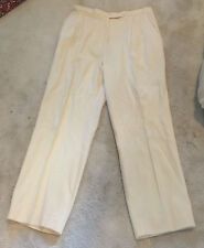 Women Leisure Pants Trousers Off White Lined Medium Harlan M Inseam 29 Harlan