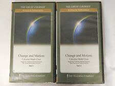 THE GREAT COURSE SCIENCE & MATHEMATICS CHANGE & MOTION PART 1 & 2 DVD & BOOKS