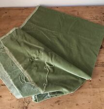 "WONDERFUL SOFT MED GREEN COTTON VELVET FABRIC  48"" WIDE X 1.6m LONG"
