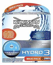 Wilkinson Sword Hydro 3 Blades 8 Razor Blades  Maxi Pack 8 Blade Pack (New)