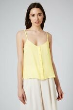 TOPSHOP Button Front Strappy Cami UK 12 citrus RRP £18.00 Box1230 M