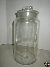 Vintage Cristalux Clear Glass Medical Style Apothecary Jar with Lid