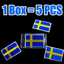 Sweden Flag Embroidered Patch Swedish Iron On National Emblem (1Box = 5Pcs) lot