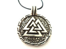 Round Valknut, Pewter Pendant Symbol of Odin