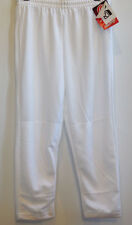 NWT New Rawlings Pull Up Quick Dry Easy Care  Baseball Pants White M Made in USA