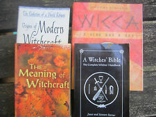 Lot of Four 4 Books on Wicca Witchcraft Metaphisical Occult Ritual Meditation