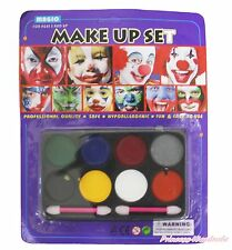 Halloween Party Circus Clown Unisex Kids Face Makeup Toy Cosmetics Eyeshadow Set