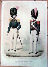 MILITARIA -GUIDE DELLO STATO MAGGIORE A PIEDI - ZEZON  DI LORENZO. NAPOLI 1853
