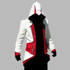 Assassins Creed3 Connor Kenway Hoodie Men Jacket Coat Cosplay Costume Lot XS-5XL