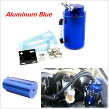 ALUMINUM HIGH CAPACITY Cylinder ENGINE OIL CATCH TANK RESERVOIR BREATHER BLUE