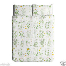 IKEA STRANDKRYPA Full Queen Duvet Cover and Pillowcases Floral