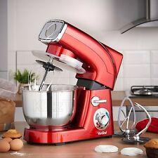 Red Stand Mixer 6-Qt Electric Professional Six Speed Countertop Kitchen Cake NEW