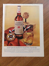 1960 Lord Calvert Whiskey Ad Awarded le Grand Prix 1960 Lucky Strike Ad