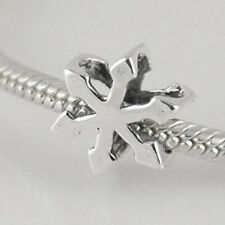 SNOWFLAKE star- Frozen- Christmas- Solid 925 sterling silver European charm bead