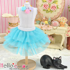 ☆╮Cool Cat╭☆192.【PD-21】Blythe Pullip Tulle Cake Mini Skirt # Sky Blue