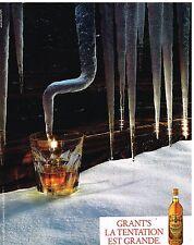 Publicité Advertising 1986 Scotch Whisky Grant's
