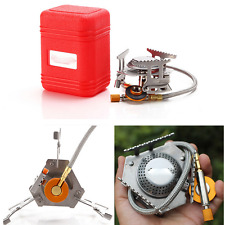 US ship 3500W Portable Picnic Gas Burner Foldable Camping Steel Stove with Case