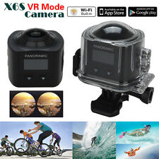 360 Degree Panoramic Camera 3D VR Action Sports Cam Wifi 16MP 4K HD Waterproof