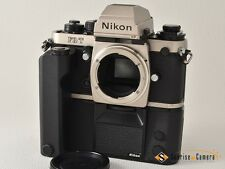 Nikon F3T Titan Silver w/MD-4 MF-14 Databack [EXCELLENT]from Japan(6764)