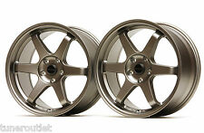 "ULTRALITE UL52 18"" STAGGERED 5x114.3 TITANIUM BRONZE ALLOY WHEELS TE37 Y2968/69"