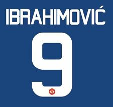 Ibrahimovic 9 Manchester United 2016-2017 Europa Away Football Nameset for shirt