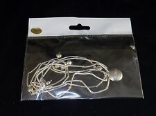 """5-Band Tube Bead Bracelet, w/Inscribed Charm """"Believe"""", White or Yellow Brass"""
