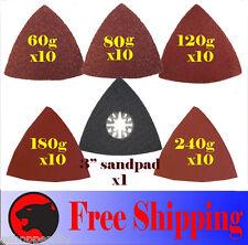 51 Triangular Sandpaper Oscillating MultiTool Pad Fein Multimaster Dremel Bosch