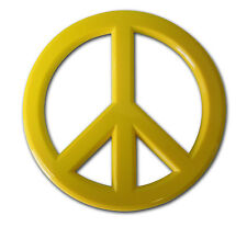 Peace Sign Auto Emblem (Yellow Acrylic)