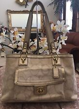Coach Penelope  Signature Linen Stitches Carryall Hand Bag F19231 Retail $328