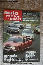 AMS Auto Motor Sport 13/68 Ford 20 M RS NSU Ro 80 BMW 2000 tilux