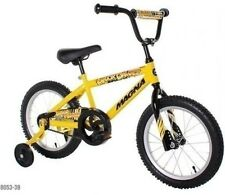 """16"""" Yellow Boys Bike Ages 4-8 Bicycle with Training Wheels"""