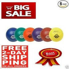 NEW Champion Sports Rhino Skin Dodgeball Set 6 Assorted Colors Balls Tough Skin