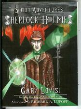 THE SECRET ADVENTURES OF SHERLOCK HOLMES by Gary Lovisi, pulp vintage pb IN DJ