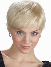 Mode Wie Echthaar Perücke Neu Sexy Dame Kurz Platinum Blonde Naturhaar-Wig