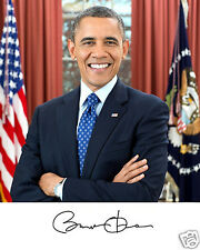Barack Obama Official Photo Autograph 11 x 14 Photo Poster Portrait Picture