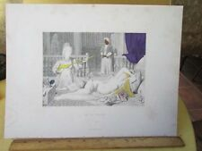 Vintage Print,IN THE HAREM,Ingres,Hand Colored,Selmar Hess,NY
