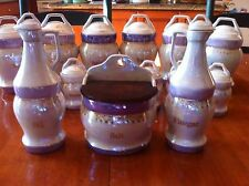 Complete Set Porcelain Canister Set 15 Pieces Germany