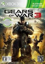 Used Xbox 360 Gears of War 3 MICROSOFT JAPAN JAPANESE JAPONAIS IMPORT