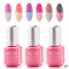 Perfect Summer Temperature Color Changing Manicure UV Nail Gel Polish Kit #07