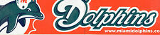MIAMI DOLPHINS BUMPER STICKER with the website on it.  Rare Fish with helmet