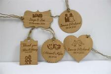 personalised tag (x50) wooden tags name tag wedding thank you tag bonbonniere