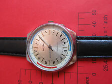 VERY RARE RAKETA-OLD VINTAGE  SOVIET RUSSIAN MECHANICAL MENS WATCH JEWELS -21
