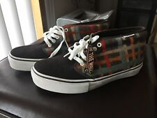 Vans Chukka Mens 7.5 Plaid Suede Nice Kicks nicekicks Brown Brand New