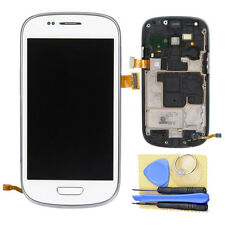 White LCD Screen Digitizer Touch & Bezel Frame for SamSung Galaxy S3 Mini i8190