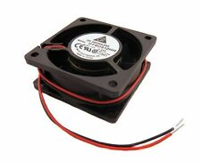 """Delta DFB0612HH 60mm x 25mm High Airflow Fan 12V DC Bare Leads 12"""" Wires NEW"""