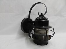 Vintage Copper Porch Sconce Jelly Jar Glass Globe Exterior Wall Light 4088-15