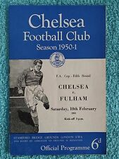 1951 - CHELSEA v FULHAM PROGRAMME - FA CUP 5TH ROUND