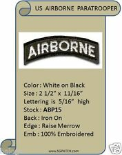 AIRBORNE BLACK/WHITE TAB PATCH - ABP15