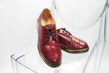 Ladies Vintage Made In England Dr Martens Cherry Red Leather Shoes Size UK 5