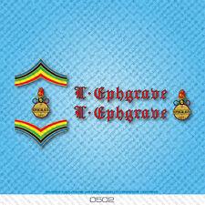 Ephgrave Bicicletta Decalcomanie-Transfers-ADESIVI-rosso e nero di testo-Set 0502